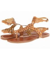 Giày Sandal Nine West Đế Bệt Pearl Da Đục Lỗ
