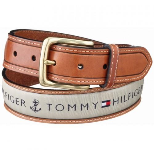 Dây Nịt Tommy Hilfiger Nam Ribbon Phối Vải Bố Đẹp