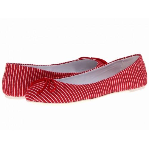 Giày Búp Bê Lumiani International Vải Đỏ Hàng Hiệu Size 37