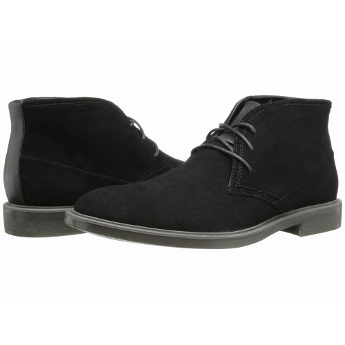 Giày Cổ Cao Da Lộn Calvin Klein Nam Ulysses Đen