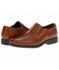 Giày Mọi Rockport Nam Da Nâu Chipley Chính Hãng Size 41W