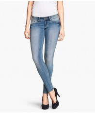 Quần Jeans HM Nữ Lưng Thấp Màu Xanh Size 26