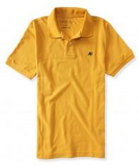 Áo Polo Aeropostale Nam Piqué Vàng Tay Ngắn