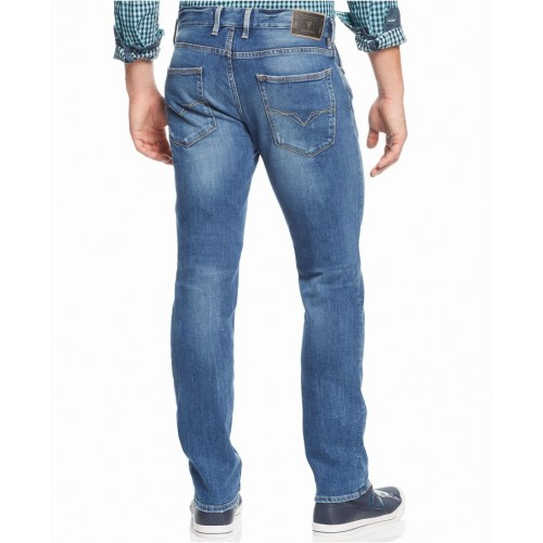 Quần Jeans GUESS Slim-Straight Folsom Blues-Wash Cao Cấp