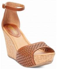 Giày Sandals Kenneth Cole Reaction Nữ Da Thật Đục Lỗ Chính Hãng