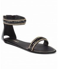 Giày Sandals Nữ Report Loften Two-Piece Đế Thấp Đẹp