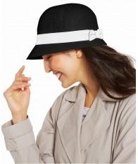 Nón Nữ Lauren Ralph Lauren Cloche Vải Lanh Cao Cấp