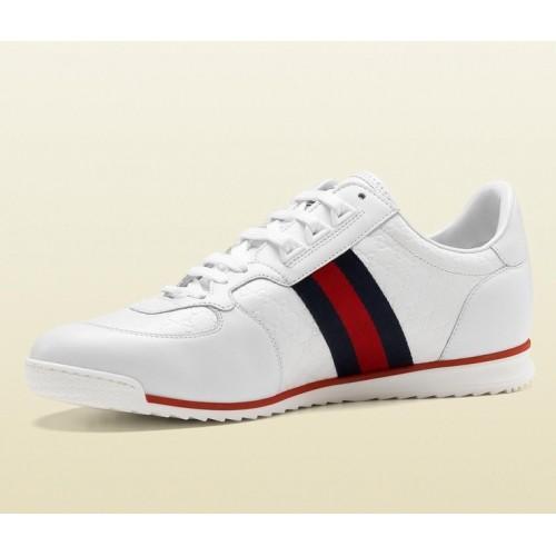 Giày Da Sneaker Gucci Lace-Up Nam Cao Cấp