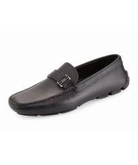 Giày Lười Prada Nam Saffiano Side-Buckle Chính Hãng