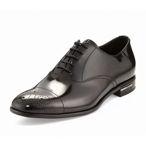 Giày Oxford Prada Nam Lace-Up Da Công Sở Chính Hãng