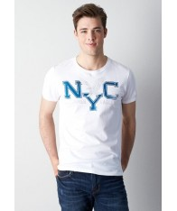 Áo Thun American Ealge Nam Trắng Graphic NYC Chính Hãng