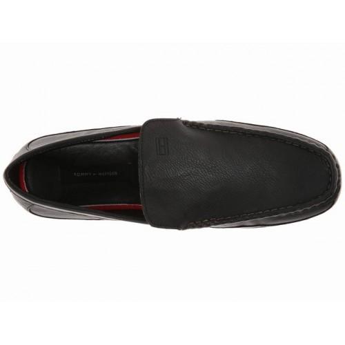 Giày Lười Tommy Hilfiger Nam Kettle Da Đen Hàng Hiệu