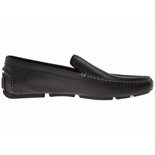 Giày Mọi Calvin Klein Nam Menton Da Đen Đế Âm Cao Cấp