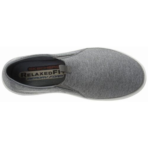 Giày Lười Thể Thao Skechers Nam Landen Vải Xám Hàng Hiệu