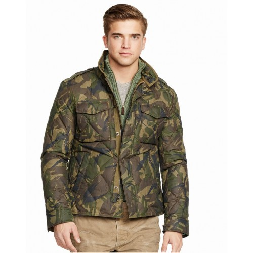 Áo Jacket Polo Ralph Lauren Nam Camouflage Quân Đội