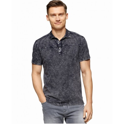 Áo Phông Nam Calvin Klein Jeans Wrinkle-Wash Polo Hàng Hiệu