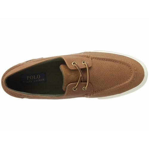 Giày Sneaker Da Polo Ralph Lauren Nam Tennen Nâu Chính Hãng