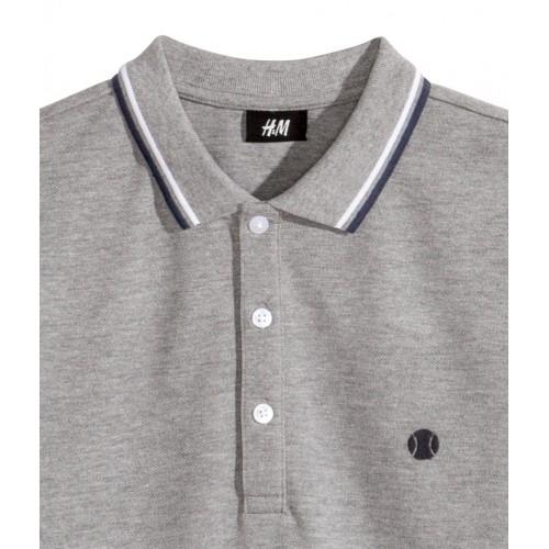 Áo Polo H&M Nam Có Cổ Tay Ngắn Xám Hàng Hiệu