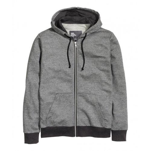 Áo Jacket H&M Nam Hooded Xám Có Mũ Hàng Hiệu