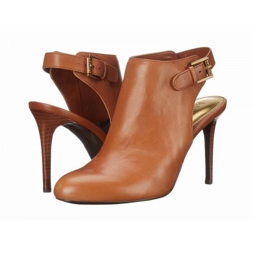 Giày Boot Nữ Cao Gót Ralph Lauren Rayna Hở Gót Hàng Hiệu