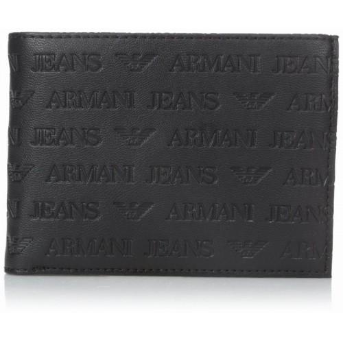 Bóp Da Nam Armani Jeans Embossed Cao Cấp Hàng Hiệu