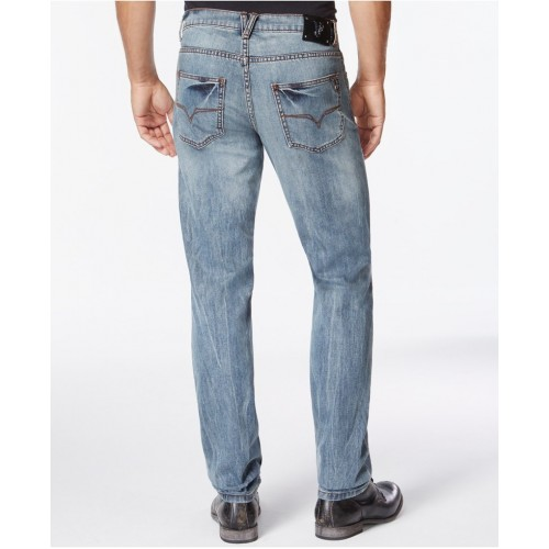 Quần Jean Nam Versace Jeans Straight-Leg Faded Cao Cấp