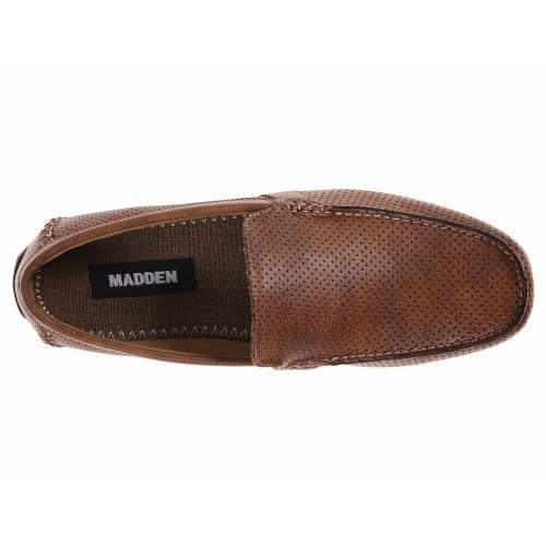 Giày Lười Steve Madden Nam Hasler Da Nâu Hàng Hiệu