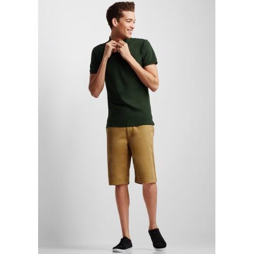Áo Thun Nam Aero Solid Uniform Polo Xanh Rêu Hàng Hiệu