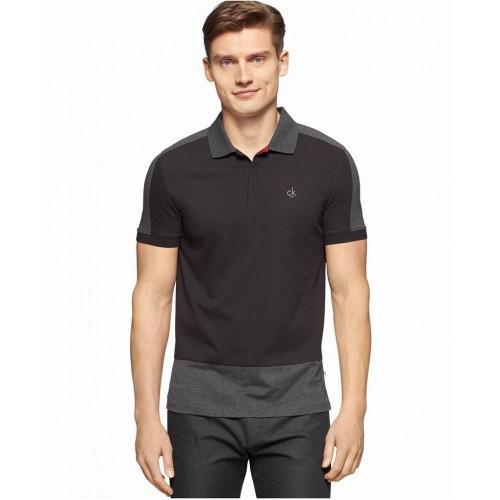 Áo Thun Nam Calvin Klein CK One Colorblocked Slim-Fit Polo Hàng Hiệu