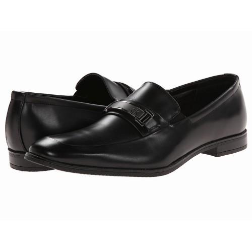 Giày Tây Lười Da Đen Calvin Klein Hale Xách Tay