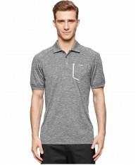 Áo Thun Nam Calvin Klein Space-Dye Pocket Polo Xám Chính Hãng