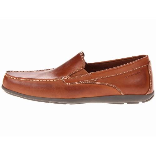 Giày Lười Nam Rockport Cape Da Nâu Chính Hãng