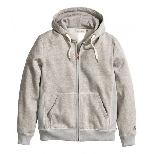 Áo Khoác H&M Nam Hooded Có Mũ Xám Hàng Hiệu