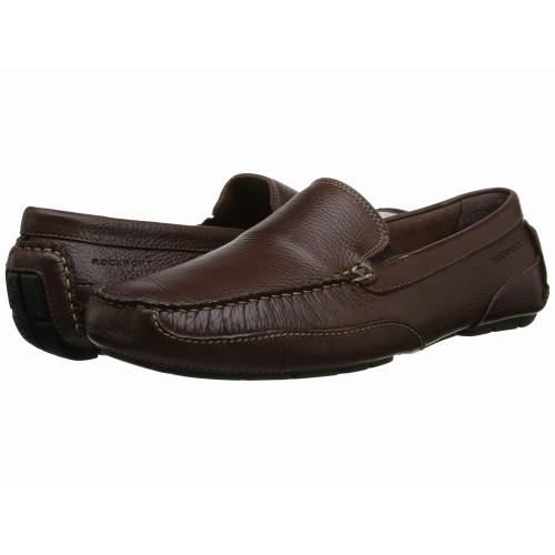 Giày Mọi Nam Rockport Oaklawn Da Nâu Hàng Hiệu