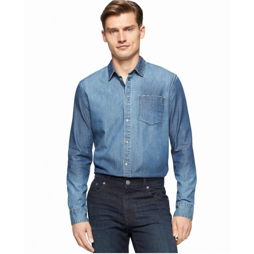 Áo Sơ Mi Calvin Klein Jeans Nam Indigo Hàng Hiệu