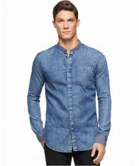 Áo Công Sở Nam Calvin Klein Jeans Cổ Tàu Xách Tay