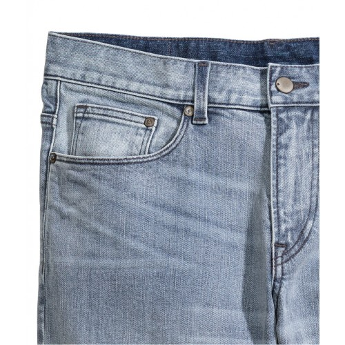 Quần Shorts Jean Nam H&M Denim Xanh Hàng Hiệu