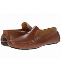 Giày Lười Nam Massimo Matteo Penny Da Nâu Cao Cấp