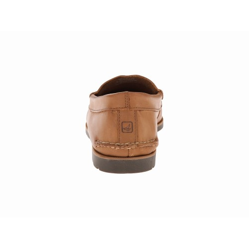 Giày Lười Nam Sperry Top-Sider Da Nâu Leeward Cao Cấp