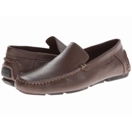 Giày Lười Da Nâu Nam Calvin Klein Menton Hàng Hiệu