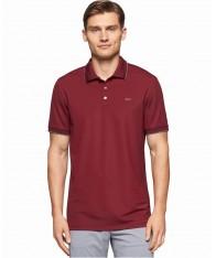 Áo Thun Polo Nam Calvin Klein Tipped Đỏ Tay Ngắn Cao Cấp