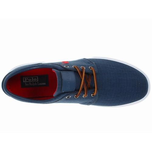 Giày Vải Thể Thao Nam Polo Ralph Lauren Faxon Low Xanh Cao Cấp
