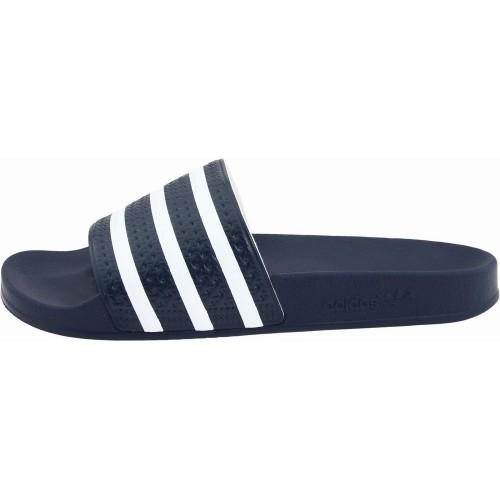 Dép Nam Adidas Adilette Slide Xanh Sọc Trắng Xách Tay