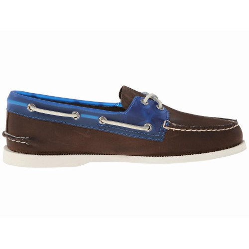 Giày Thuyền Da Nam Sperry Top-Sider Seaglass Nâu Cao Cấp