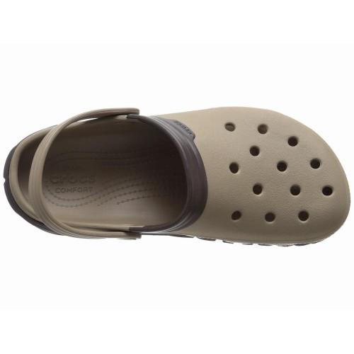 Dép Nhựa Nam Crocs Duet Max Xám Hàng Hiệu
