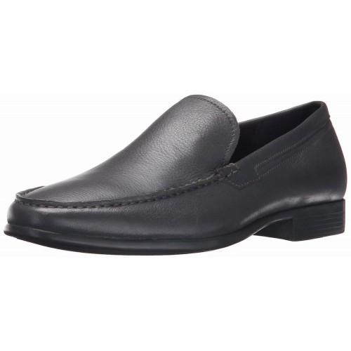 Giày Tây Lười Calvin Klein Nam Landen Tumbled Da Đen Xách Tay