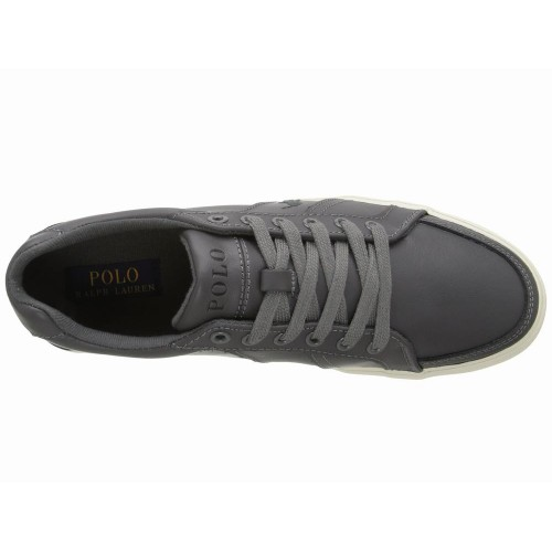 Giày Sneaker Nam Polo Ralph Lauren Hugh Pique Xám Cap Cấp
