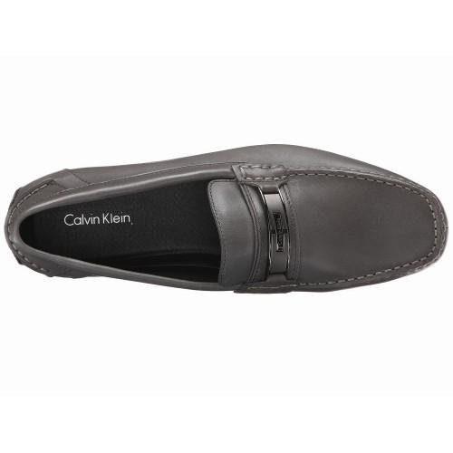 Giày Lười Da Xám Nam Calvin Klein Mchale Hàng Hiệu