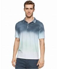Áo Polo Nam Calvin Klein Jeans Colorblocked Spray Xám Trắng