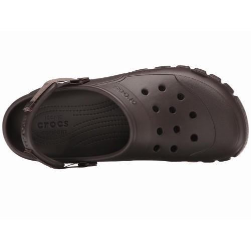 Dép Nhựa Nam Crocs Off Road Nâu Xách Tay